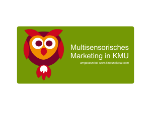 Multisensorisches Marketing in KMU