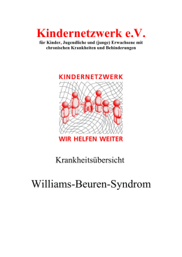 Williams-Beuren-Syndrom
