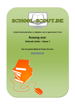 Rationale Zahlen - Klasse 7 - School