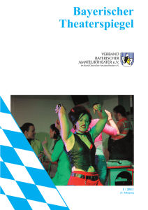 Theaterspiegel 01/2011 - Verband Bayerischer Amateurtheater eV