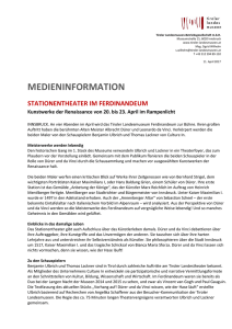 medieninformation - Tiroler Landesmuseen