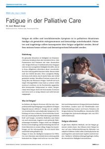 Fatigue in der Palliative Care