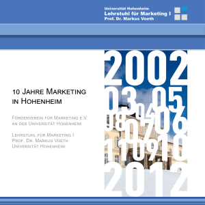 10 Jahre Marketing in Hohenheim