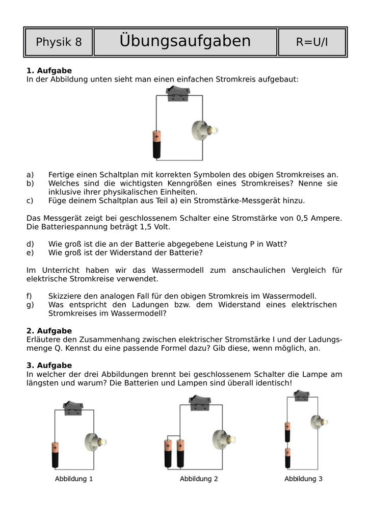 Niedlich Schaltplan Des Elektrischen Stromkreises Galerie ...