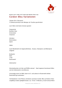 Cordon-Bleu Variationen