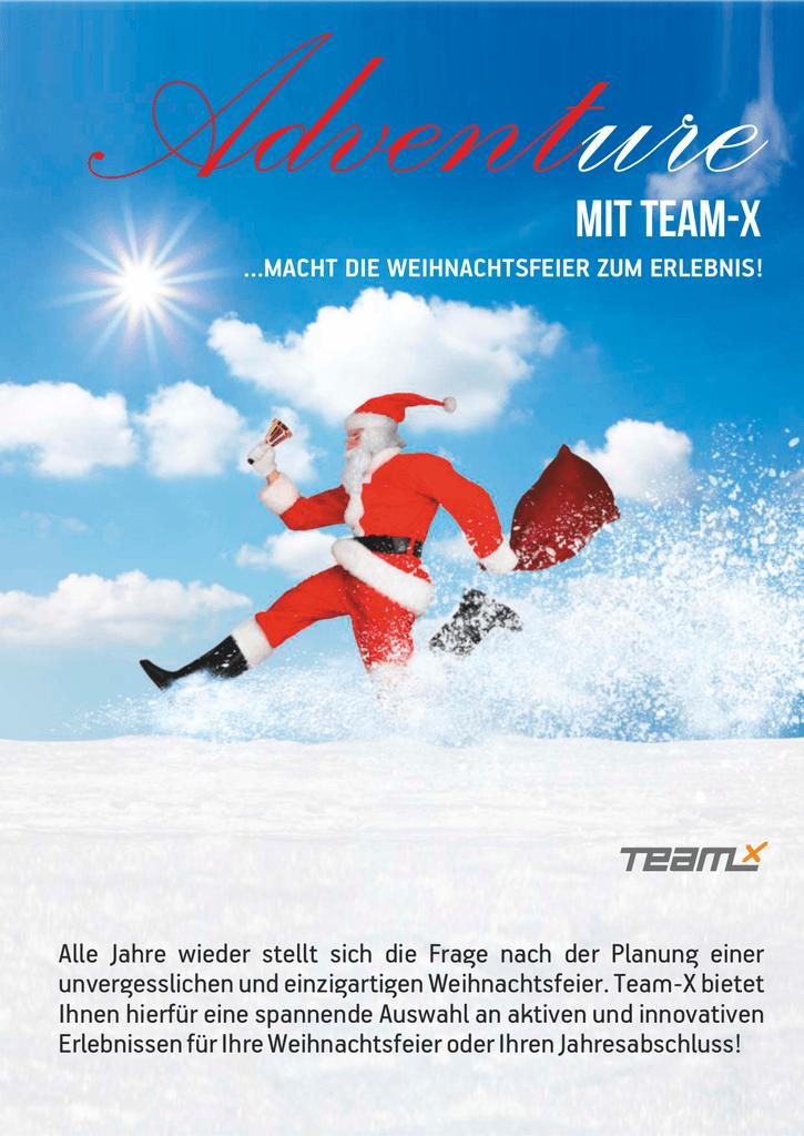 Weihnachtsspiele Weihnachtsfeier.Adventure Team X