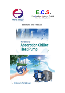 World Energy Absorbtionstechnik - E.C.S Eco Cooline Systems GmbH