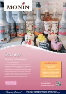 Back-Ideen - Monin Sirup
