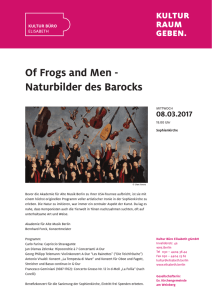 Of Frogs and Men - Naturbilder des Barocks