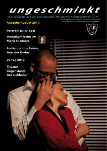 Ausgabe August 2012 - Verband Hessischer Amateurtheater eV