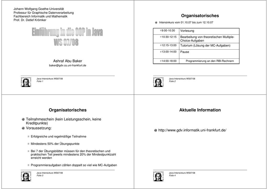 Foliensatz1+2 - Detlef Krömke - Goethe