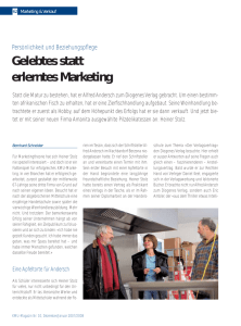 Gelebtes statt erlerntes Marketing