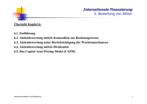Internationale Finanzierung