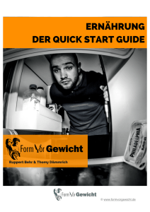 Der Quick Start Guide