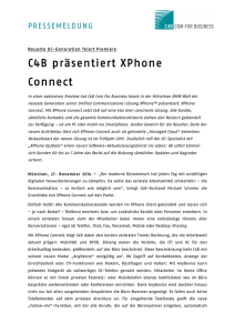 C4B XPhone Connect Pressemeldung