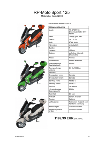 RP-Moto Sport 125 - bei Hackl Individual Cars!