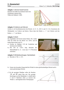 Vorbereitung Für Klassenarbeit Prozentrechnung Und Dreiecke