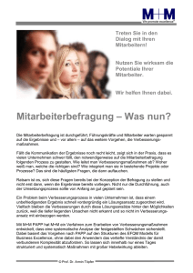 Mitarbeiterbefragung - Was nun - M+M Management + Marketing