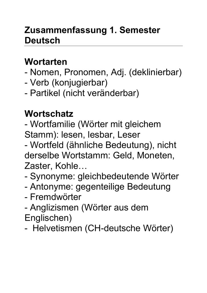Wortfamilie Schreiben