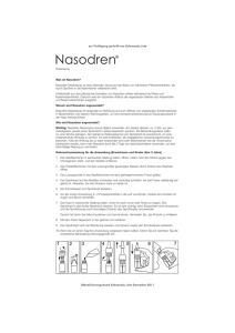 Beipackzettel Nasodren Spray - Shop