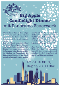 Big Apple Candlelight Dinner mit Panorama Feuerwerk