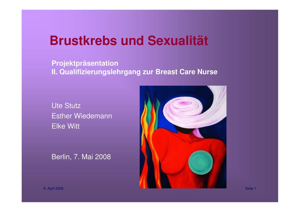 brustkrebs und sexualität