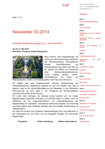 Newsletter 3/2014 - Bundesvereinigung City