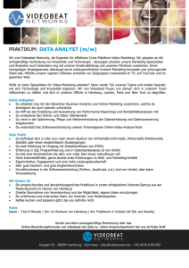 PRAKTIKUM: DATA ANALYST (m/w)