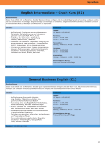 English Intermediate – Crash Kurs (B2) General Business English (C1)