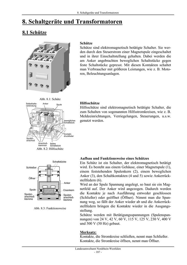 Schaltgeräte und Transformatoren