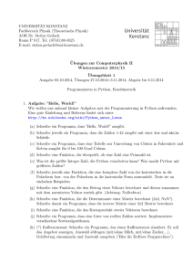 Blatt 1 - Theoretical Physics at University of Konstanz/Theoretische