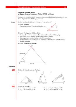 Dreieckskonstruktionen (WSW, SWS, SSS, SSW) - robert
