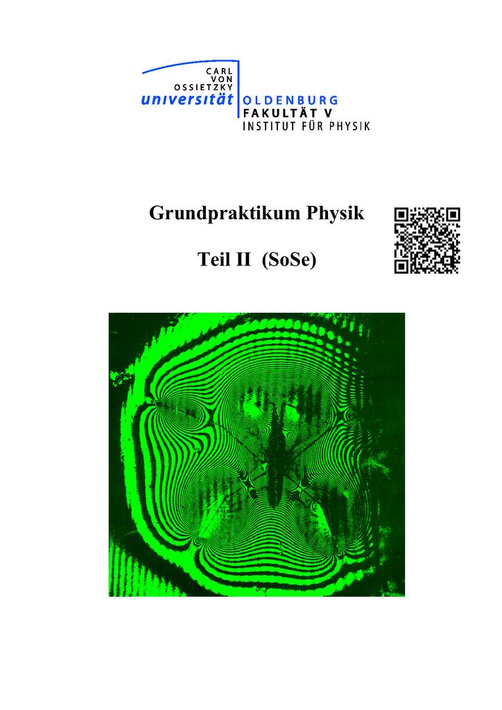 Grundpraktikum Physik Teil II (SoSe)