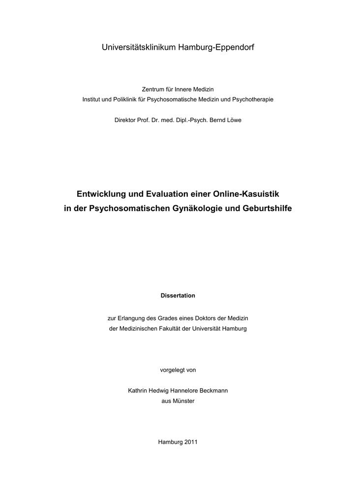 Dissertation Kathrin Beckmann_Entwicklung und Evaluation einer