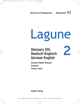Lagune 2, Glossary XXL, German-English