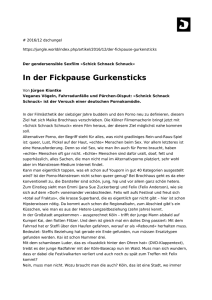 In der Fickpause Gurkensticks