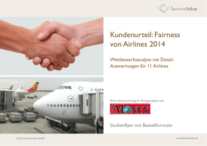 Kundenurteil: Fairness von Airlines 2014