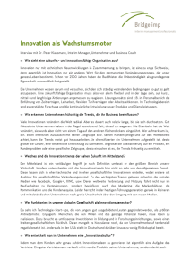 Innovation als Wachstumsmotor