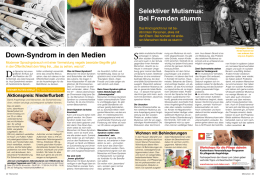 Down-Syndrom in den Medien - Down