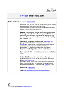 irrationale Zahl