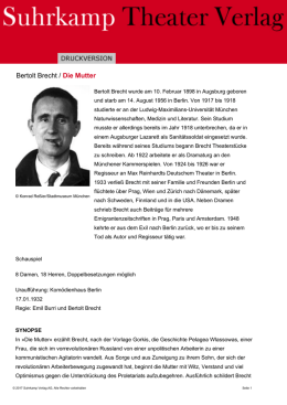 Bertolt Brecht / Die Mutter