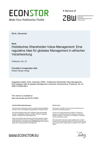 Holistisches Shareholder-Value-Management