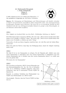 8 - Mathematik-Olympiaden in Deutschland