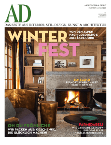 AD Architectural Digest Germany Dezember 2014