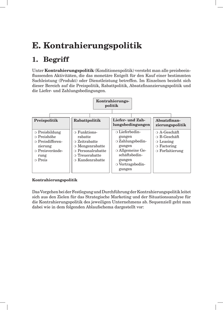 2. Preispolitik/Preisbildung
