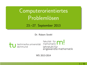 23.–27. September 2013 - Mathematik, TU Dortmund
