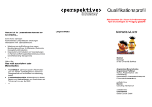 Qualifikationsprofil