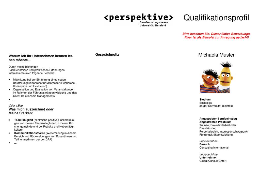 qualifikationsprofil - Qualifikationsprofil Muster
