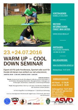 23.+24.07.2016 warm up – cool down seminar