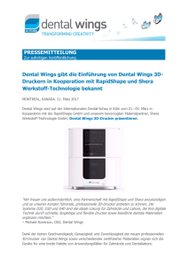 Pressemeldung - Dental Wings